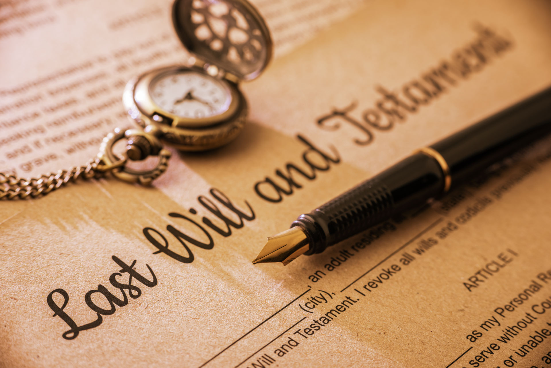 Image of a will and pen